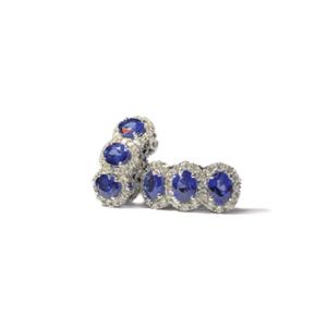 Orecchini con sei zaffiri e diamanti