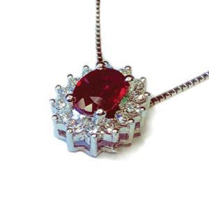 Pendente a stella con rubino e diamanti