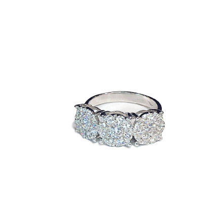 Anello trilogy con diamanti