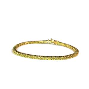 Bracciale tennis con diamanti gialli