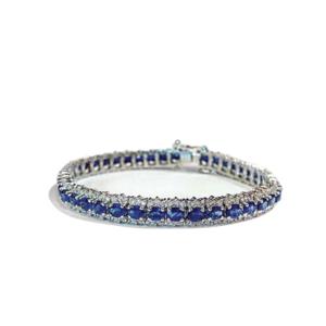 Bracciale tennis con zaffiri e diamanti