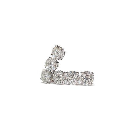 Orecchini con sei diamanti
